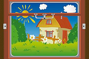 Что вы видите в окне — дачу или загородный дом?