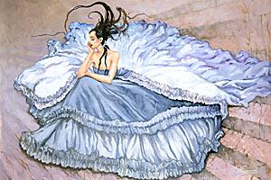 Блузы и юбки подчеркивают женскую красоту