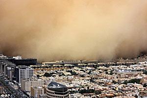 Песчаная буря в Эр-Рияде.