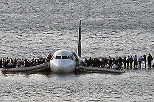 Спасение пассажиров авиалайнера на водах Гудзона