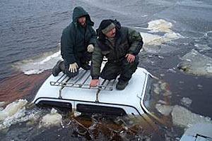 Спасение рыбаков на Финском заливе