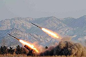 Пуск пакет малой дальности ПВО КНДР
