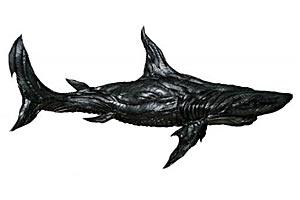 Акула из автомобильных покрышек