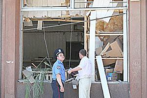 В отделении Ощадбанка Украины в городе Мелитополь прогремел взрыв