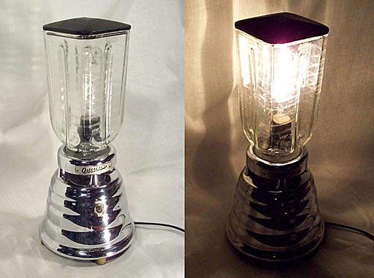 Настольная лампа из старого блендера