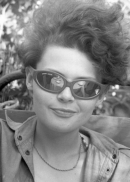 Ольга (Ага) флиртует. 1989 год.