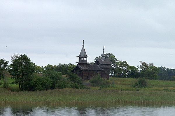Вид на остров Кижи со стороны Ладожского озера. 2006 год.