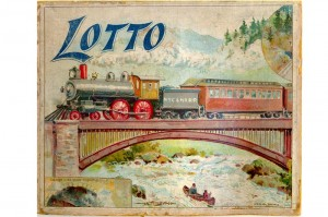 Top of vintage Lotto game box — крышка от старой коробки с лото