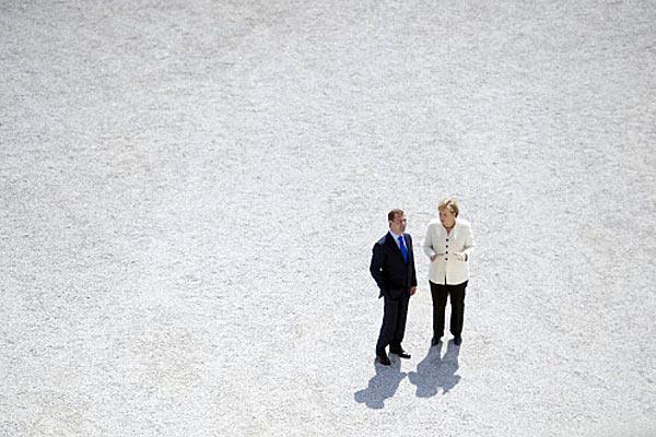 Ангела Меркель и Дмитрий Медведев.