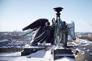 Студеный Санкт-Петербург. С крыши Исакия. 1997 год.