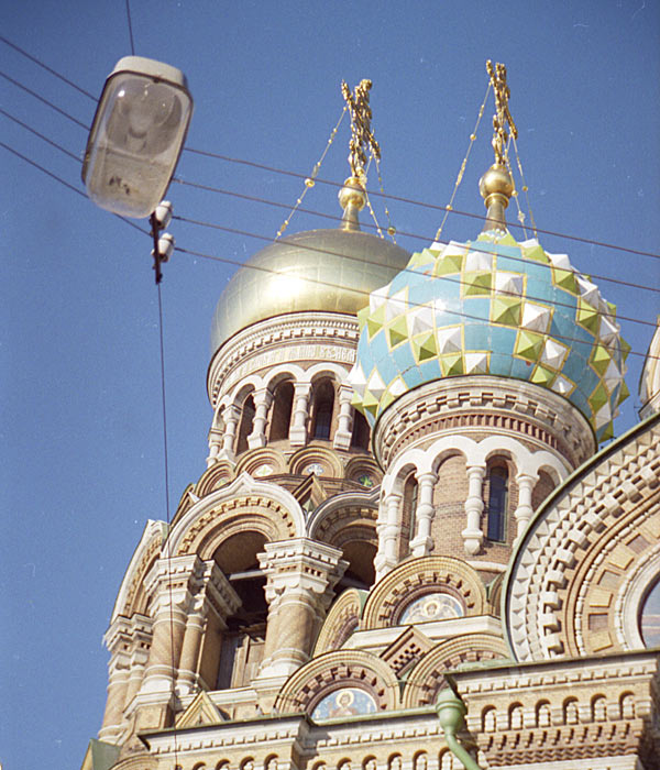 Студеный Санкт-Петербург. Несколько цветовых пятен. 1997 год.