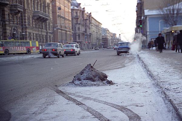 туденый Санкт-Петербург. Повседневная жизнь горожан. 1997 год.