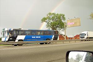 Двойная радуга над трассой Санкт-Петербург — Москва. 2004 год.
