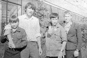 Ребята из борцовского клуба. Коньково. Москва. 1974 год.