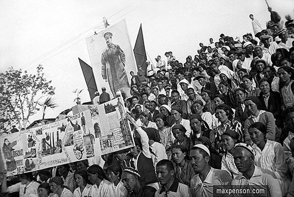 Во время проведения спортивного парада в 1932 году в Самарканде. Макс Пенсон
