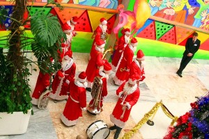 Деды Морозы перед концертом