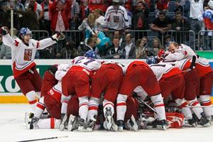 Сборная Чехии радуется выходу в финал ЧМ-2010