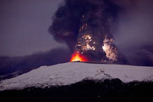 Извержение вулкана Эйяфьядлайокудль