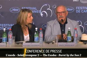 Никита Михалков на пресс-конференции в Каннах