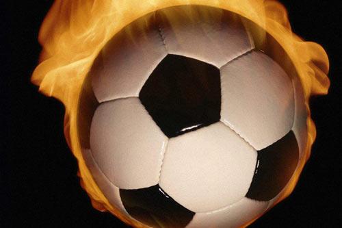 Футбол в огне.