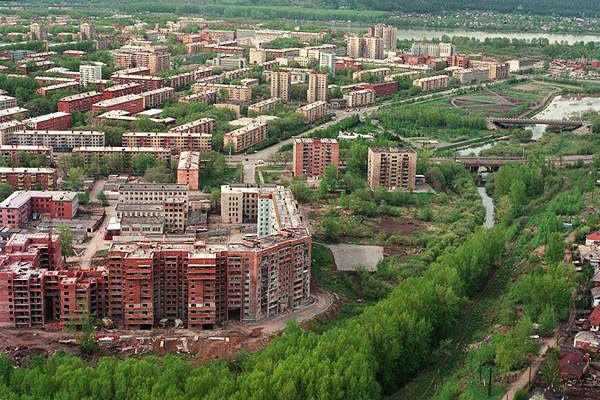 Современная жилая застройка в Кемерово.