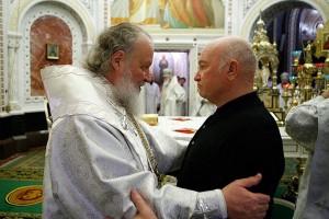 Патриарх Кирилл и Юрий Лужков