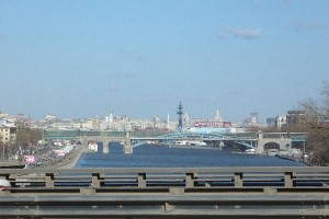 Памятник Петру в контексте панорамы Москвы