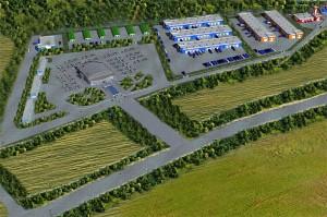 Так выглядит торгово-складской и производственный центр в бизнес-плане