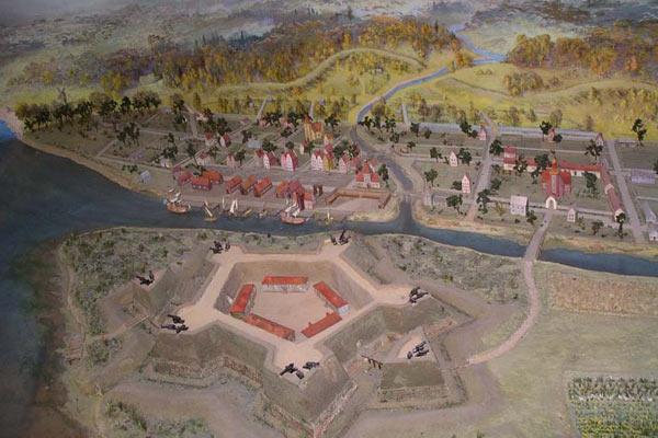 Форт Ниеншанц 500 лет назад (макет)