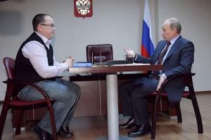 В.В. Путин и переработчик молока из Оренбурга И.Н. Ахмеров