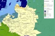 Карта Речи Посполитой до разделов.