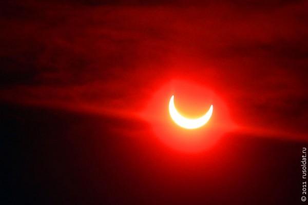 Солнечное затмение на территории Москвы и МО 04.01.2011 г.