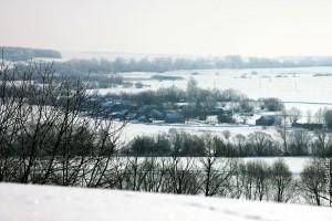 Посёлок зимой.