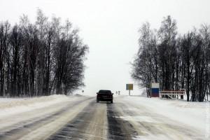 Въезд в Глазуновский район с севера.