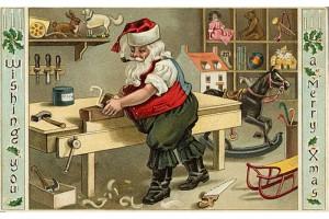 Старая рождественская поздравительная открытка.