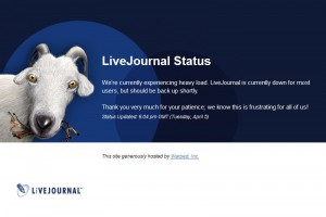 LiveJournal Status: We're currently experiencing heavy load.