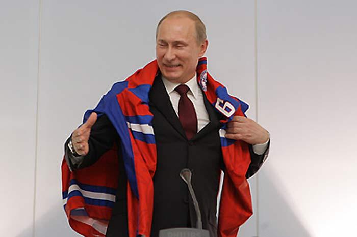 Владимир Путин после оглашения результатов жеребьевки в Братиславе.