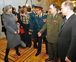 Новая униформа военнослужащих Российской армии.