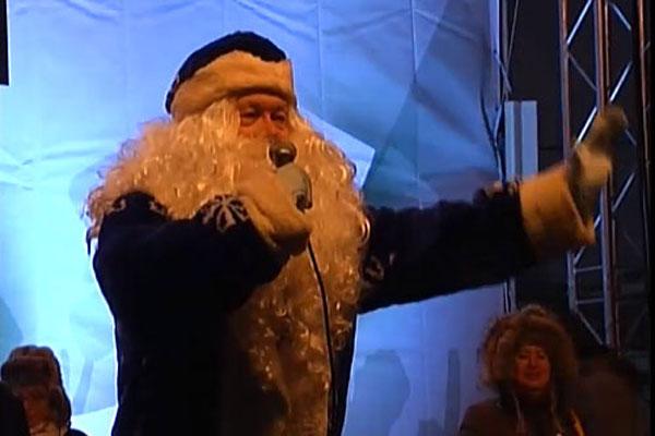 Митинг на проспекте Сахарова. Выступление Деда Мороза.