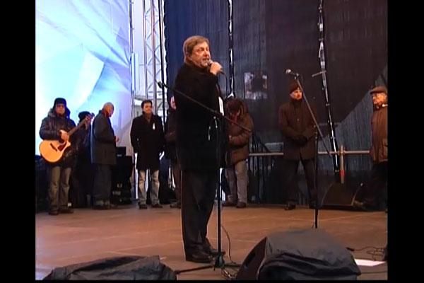 Митинг на проспекте Сахарова. Выступает Явлинский.