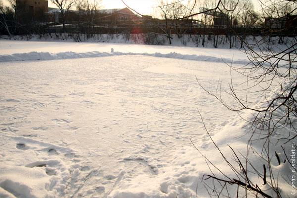 На Крещение в 2012 году был хоть и небольшой, но мороз.