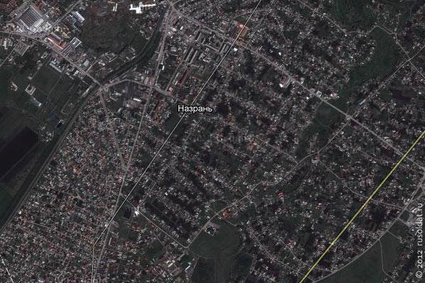 Столица Ингушетии Назрань на Гугль Карте.