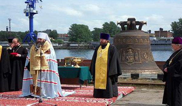 «Совфрахт» доставил в Нижний Новгород третий по величине «звонящий» колокол в России.