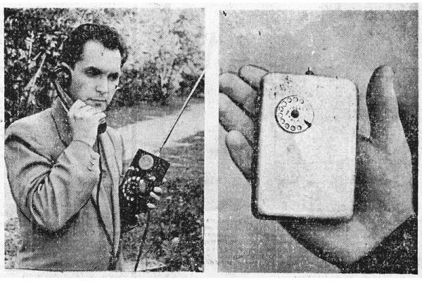 Слева — первый аппарат Леонида Куприяновича; справа — последняя модель радиофона.