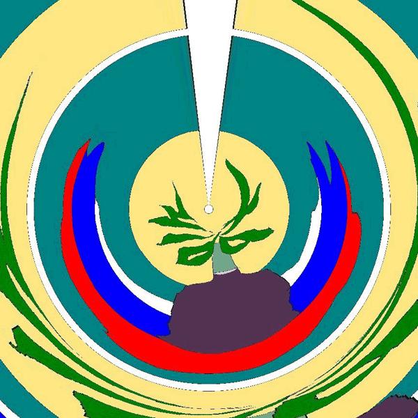 Логотип полуострова глазами мухи.
