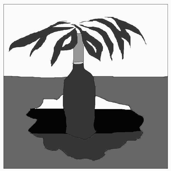 Чёрно-белый логотип для высокой печати и линотипных машин.